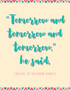 fangirl rainbow rowell quotes - Google Search
