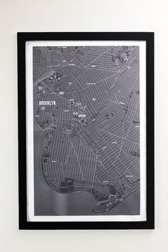 Brooklyn New York Vintage Style Canvas Poster 24 x 36. The Apartment B Vintage Map of 1937 Brooklyn is a true time piece of the New York borough. Our poster illustrates the Brooklyn neighborhoods as they were in the 1930s. The map illustrates some of Brooklyn's iconic landmarks that still stand today and others that are no longer present. Our time piece map illustrates a vibrant Coney island, a growing Navy Yard, a post prohibition Brewers row, and a variety of theaters second to none…