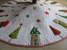 Quilts & Patchwork - Quilt-Weihnachtsbaumdecke - ein Designerstück von Aksiny bei DaWanda