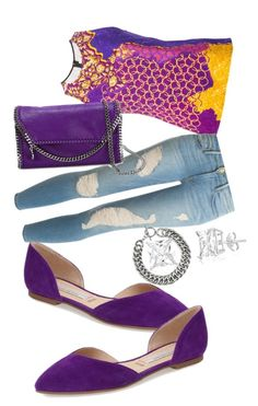 Purple mix by nfc-spring-phillip on Polyvore featuring polyvore fashion style Peter Pilotto Frame Denim Kristin Cavallari STELLA McCARTNEY Yves Saint Laurent