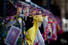 Colourful Gabrielle swimwear to brightened the darkening winter days, seen at the Neighbourgoods Market in Cape Town.