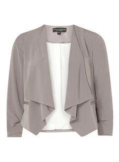 Grey Pebble Soft Waterfall Jacket