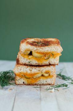 Dill Pickle Grilled Cheese | @BSintheKitchen #GrilledCheese #Sandwich
