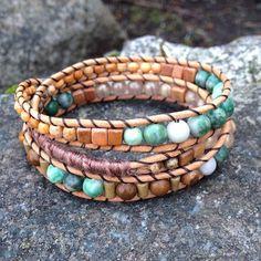 NEW  Summer Inspired Triple Wrap Bracelet!   Jade Agate Wood -- Handmade  Local West Coast Jewelry >> wanderlustwrists.etsy.com  --> Link in bio #bracelet #bracelets #handmade #handmadebracelet #handmadejewelry #local #etsy #wanderlust #travel #explore #victoria #leather  #travelbracelet #crystalproperties #healing #bohemian #jewelry #wrapbracelet #chanluu #jade #adventure #westcoast #agate #adventure #summer #beach