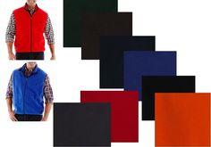 Izod Polar Fleece Vest solid zip front 100%polyester men's size S, M, L, XL NEW #IZOD