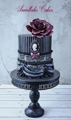 Black Gothic Cake #2 - Sweetlake Cakes