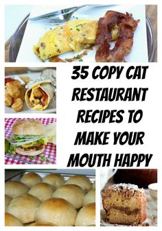 35 Copy Cat Restaurant Recipes