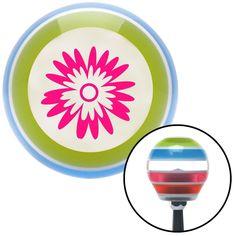 Pink Hawaiian Flower 3 Stripe Shift Knob with M16 x 15 Insert