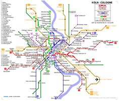 Detailed metro map of of Cologne - download for print out