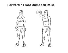 Dumbbell Front Raise Exercise For Shoulders