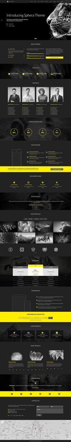 Black, yellow, concept, web design, layout, modern, minimalist in Web