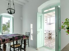 Cool interiors at Nausika b&b in the island of Milos, Greece