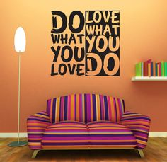 "Wall Decal Quote Text Vinyl Sticker Home Decor Art Mural "" Do what you love ..."""