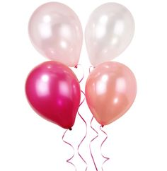 12 x Pink n Mix Party Pearl Balloons + 5m Band