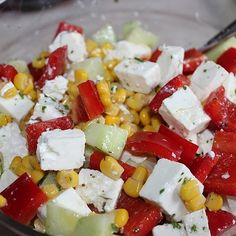 Feta – Maissalat - My Cooking Ideas 2020 Berry Smoothie Recipe, Easy Smoothie Recipes, Paleo Recipes, Snack Recipes, Grilled Fruit, Cookout Food, Corn Salads, Food Shows, Bbq Grill