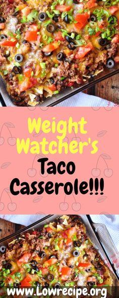 Weight Watchers Casserole, Weight Watchers Free, Weight Watchers Chicken, Good Healthy Recipes, Ww Recipes, Mexican Food Recipes, Cooking Recipes, Cooking Time, Kitchens