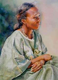 Ann Balch WATERCOLOR.  I love the glow of her face.