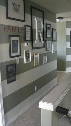 striped paint wall (  gallery wall)