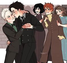 Read Drarry (Headcanons e imágenes) from the story DRARRY & WOLFSTAR by with reads. Fanart Harry Potter, Harry Potter Comics, Harry James Potter, Harry Potter Feels, Mundo Harry Potter, Harry Potter Draco Malfoy, Harry Potter Ships, Harry Potter Jokes, Harry Potter Fandom
