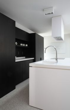 Option...black wall cabinets and whte island?