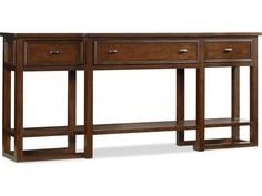 Hooker Furniture Lorimer Waxed Hickory Veneer 72''L x 14''W Rectangular Console Table
