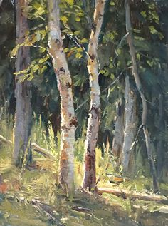 Sundance by Kathleen Dunphy Oil ~ 12 x 9 Watercolor Trees, Watercolor Landscape, Landscape Art, Landscape Paintings, Oil Paintings, Painting Trees, Painting Flowers, Indian Paintings, Watercolor Portraits
