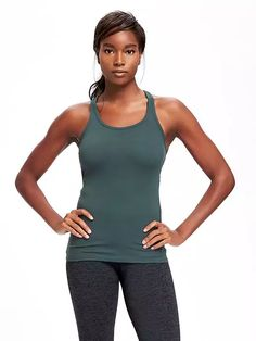 Old Navy Go Dry Fitted Rib Knit Tank For Women Size XL Tall – Rogue river. Tall Clothing for Tall Women at PrettyLong.com Clothing For Tall Women, Maternity Wear, Running Shorts, Rib Knit, Sport Outfits, Old Navy, Man Shop, Tank Tops, Rogue River