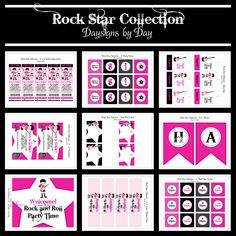 Rock Star Party Package. $25.00, via Etsy.