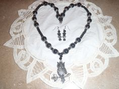 Beautiful 12in Owl Necklace with matching by WhatMemoriesRMadeOf, $29.95
