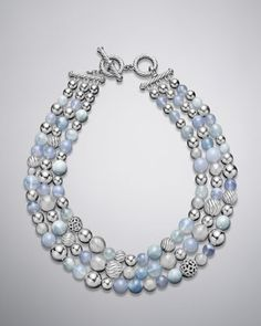 Elements Necklace, Blue Chalcedony - Neiman Marcus