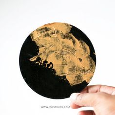 DIY Black and Gold Coasters