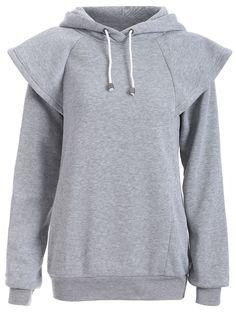 Loose Cape Sleeves Pullover Hoodie