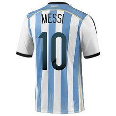 ADIDAS ARGENTINA MESSI AUTHENTIC HOME JERSEY WORLD CUP BRAZIL 2014 PLAYER ISSUE