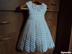 Crochet dress| How to crochet an easy shell stitch baby / girl's dress f...