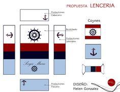 Diseño de Lencería .. Motivo Marinero
