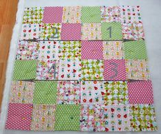 The third part of the tutorial on how to sew a blanket shows how to make a patch . Patchwork Quilt Patterns, Patchwork Blanket, Baby Clothes Quilt, Mitered Square, Square Blanket, Easy Quilts, Needlework, Diy And Crafts, Patches