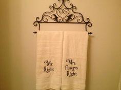 Wedding present  Mr Right & Mrs Always Right