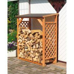 Bûcher en treillis de bois - Ce bûcher est un abri de jardin spécialement conçu pour ranger et  stocker vos bûches et rondins de bois dans l'attente d