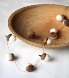 Felt acorn garland