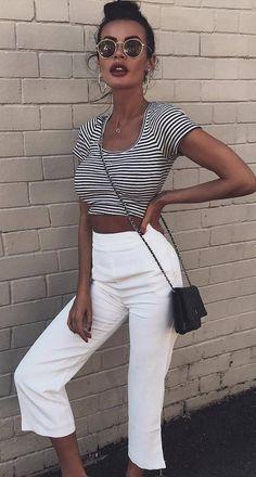 ootd crop top + pants