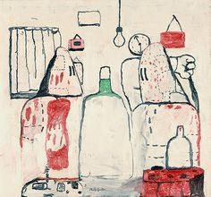 This is the start of when painting has it momentary lapse of reason. Painting by Philip Guston, 1969