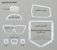 Stampin' Up! Pocket Dies sizes shared by Dawn Olchefske Anna Craft, Pocket Full Of Sunshine, Index Cards, Stamping Up Cards, Big Shot, Room Organization, Homemade Cards, Stampin Up, Card Making