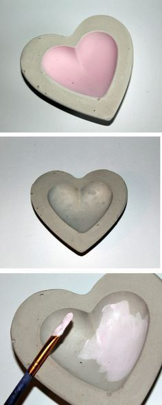Perfect DIY Gips Beton Schale Herz
