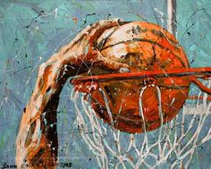 Basketball art, check out more photos at http://www.TheSportsWonk.com