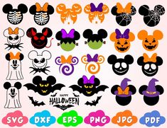 Moldes Halloween, Disney Halloween Shirts, Fröhliches Halloween, Adornos Halloween, Halloween Pumpkins, Disney Halloween Decorations, Halloween Jewelry, Halloween Cupcakes, Christmas Jewelry