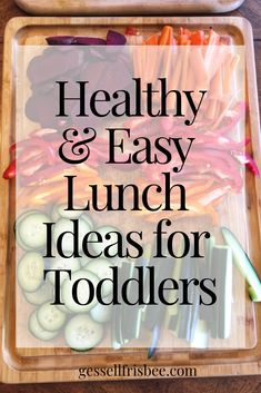 Ideas for toddler meals can be challenging if you have picky eaters! Here are my 1 year old and 2 year old 3 favorite healthy lunch recipes Healthy Baby Food, Healthy Meals For Kids, Healthy Foods To Eat, Kids Meals, Healthy Recipes, Food Baby, Old Recipes, Baby Food Recipes, Whole Food Recipes