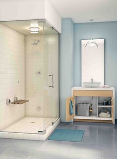Smallest Bathroom with Shower - Smallest Bathroom with Shower, 21 Unique Modern Bathroom Shower Design Ideas Steam Shower Units, Steam Room Shower, Steam Showers Bathroom, Shower Bathroom, Glass Shower, Bathroom Vanities, Small Bathroom With Shower, Bathroom Design Small, Colorful Bathroom