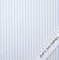 Sky Blue Striped Linen & Cotton By Solbiati Shirting Fabric, Buy Fabric Online, Striped Linen, Sky, Cotton, Blue, Shirts, Heaven, Heavens