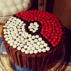 Pinterest cake we made. I ordered the special m&ms