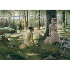 Shop for ''Under the Birches'' by Albert Edelfelt Fairfield Art Publishing Art Print x 24 in. Get free delivery On EVERYTHING* Overstock - Your Online Art Gallery Store! Helene Schjerfbeck, Jean Leon, Chur, Woman Reading, Art Studies, Artist Names, Vincent Van Gogh, Beautiful Paintings, Oeuvre D'art